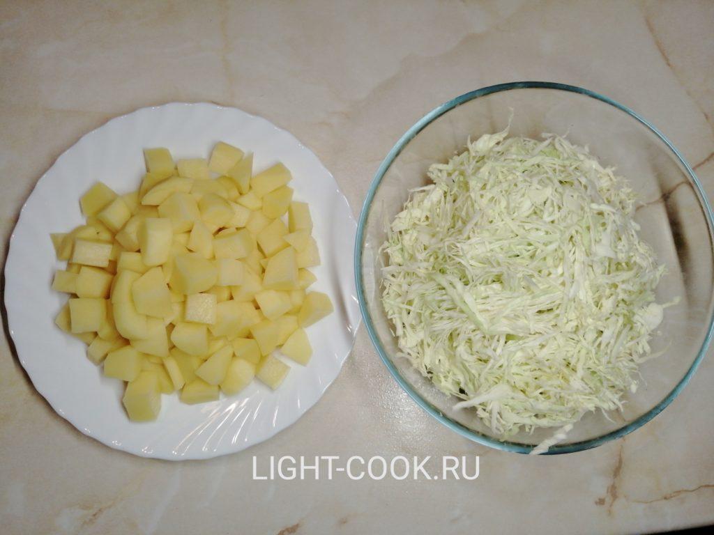 капуста и картошка на борщ