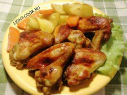 рецепт куриных крылышек в соевом соусе в духовке